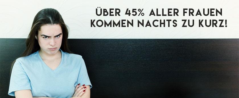 Eine aktuelle Studie bestätigt, dass die Deutschen zu wenig zu schlecht schlafen