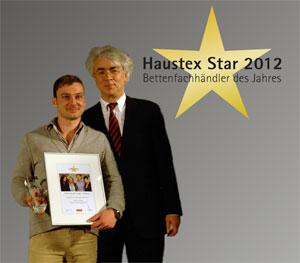 Haustex Star Bettenfachhändler des Jahres 2012